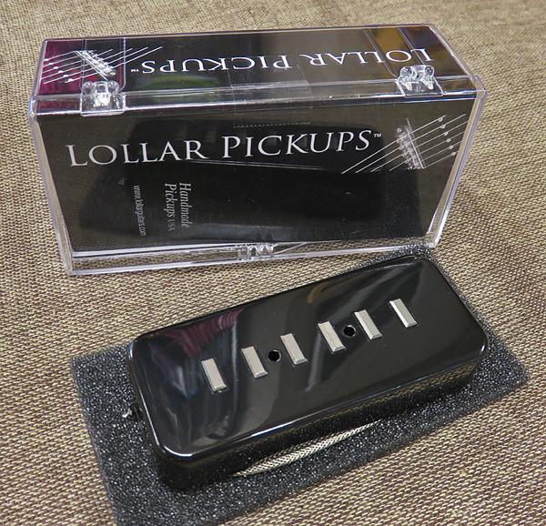 LOLLAR PICKUPS P-90 Soap Bar Staple black soapbar cover neck
