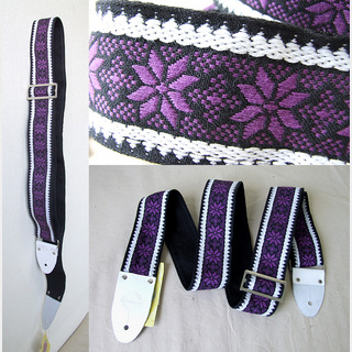 Montreux 1969 Purple (white tab) Retrovibe Strap ギターストラップ