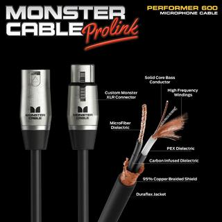 Monster Cable PERFORMER 600 XLR-XLR 10ft(3.04m)