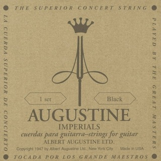 AUGUSTINE IMPERIAL BLACK SET クラシックギター弦×6セット
