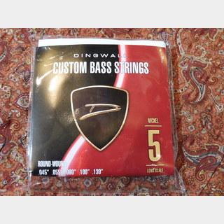 DINGWALL CUSTOM BASS STRINGS [NICKEL 5ST] SET ROUND-WOUND .045-.130