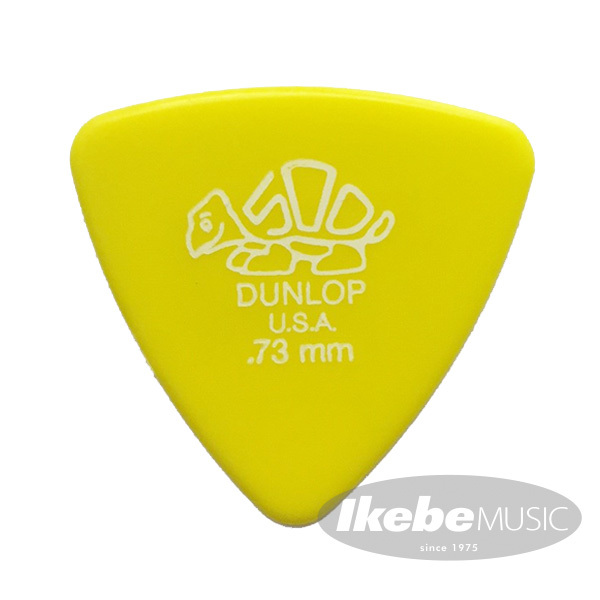 Jim Dunlop 411B Derlin Triangle Pick ×10枚セット (0.73mm/イエロー)