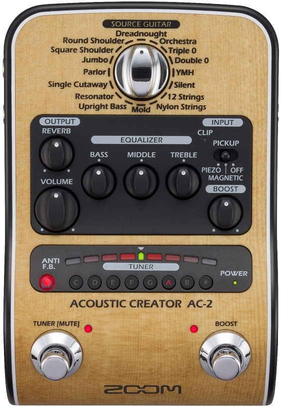 ZOOM AC-2 Acoustic Creator for acoustic guitar preamp