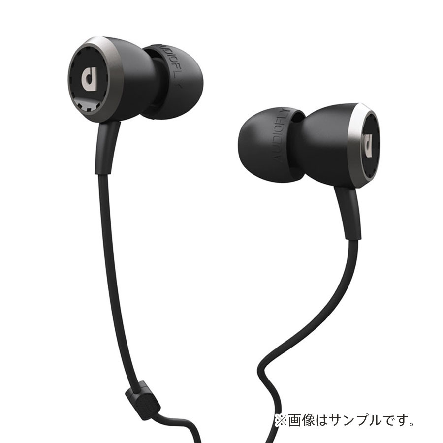 AUDIOFLY AF33M In-Ear Headphones with MIC (Piano Black)