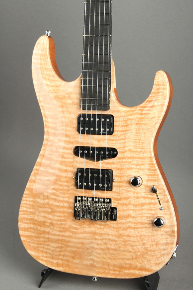 Marchione Carve Top / Set Neck / Maple Top, Mahogany Wing / HSH / Natural