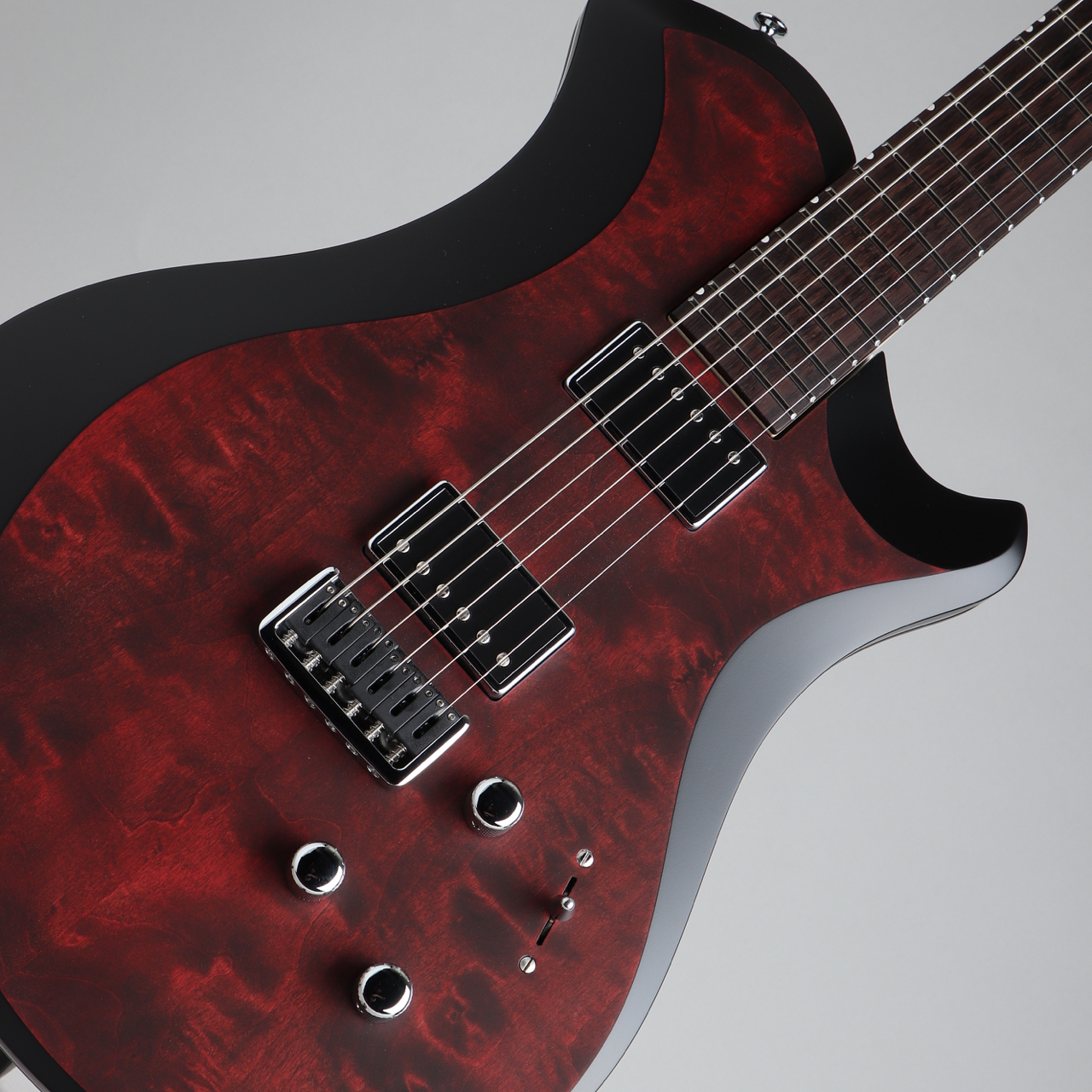 Relish Guitars MARY ONE Quilted Maple BORDEAUX ST. Black Edge
