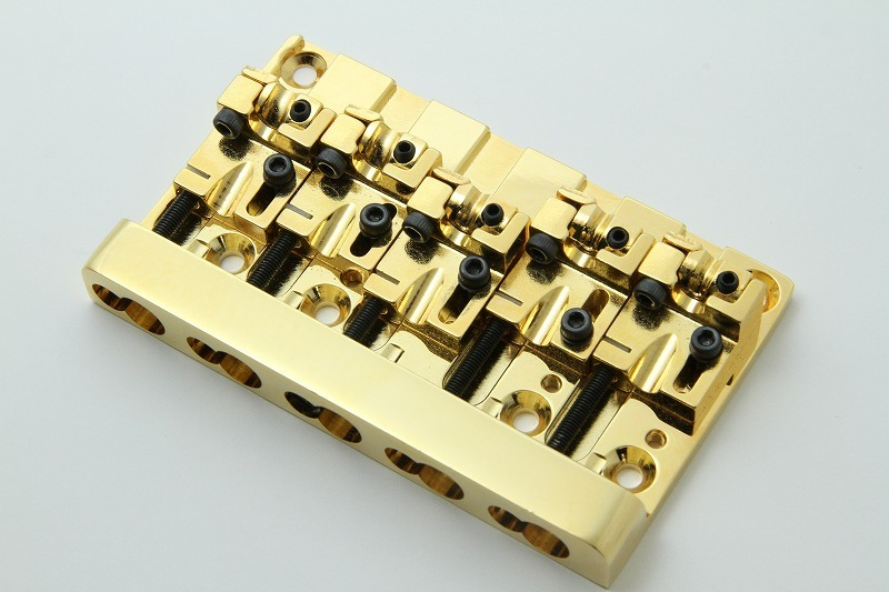 NO BRAND Japanese-made base for the bridge / GOLD / for 5-string
