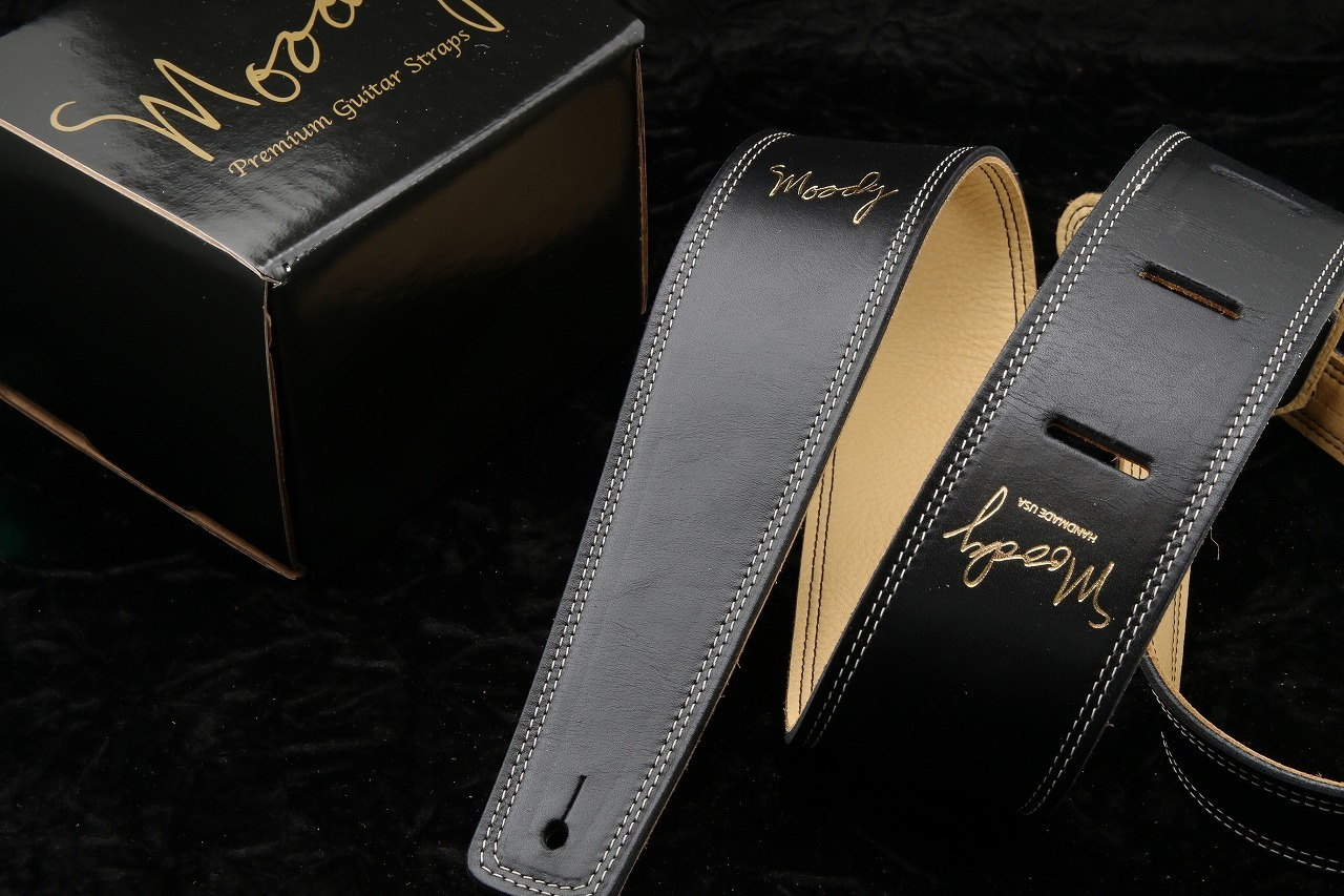 """moody 2.5 """"Leather / Leather LONG [Black / Cream]"""