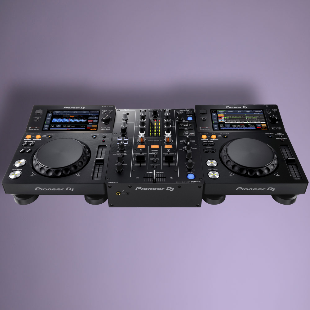 Pioneer Dj XDJ-700 × 2 units / DJM-450 1 single × [compact digital set] [] [can be divided!]