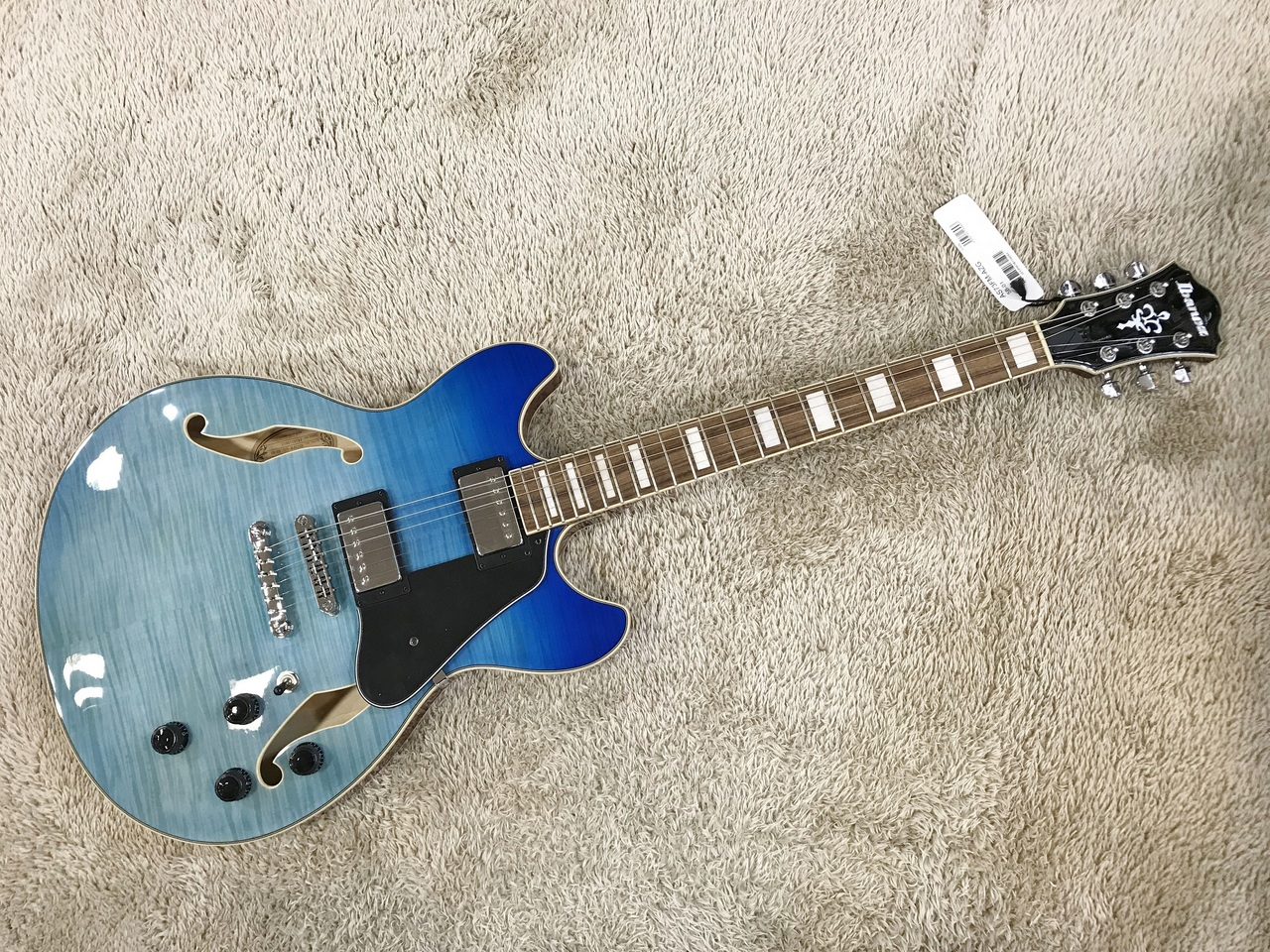 Ibanez AS73FM-AZG Azure Blue Gradation 【限定モデル】【セミアコ】