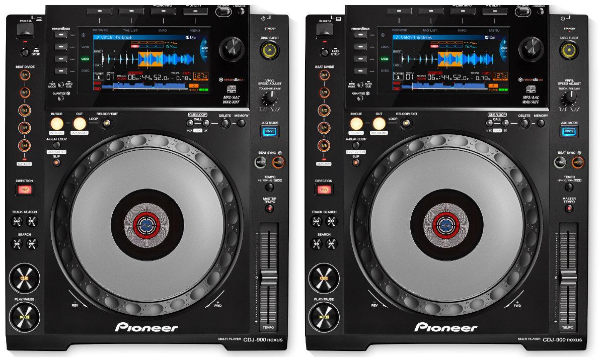 Pioneer Dj CDJ-900NXS × 2 units set