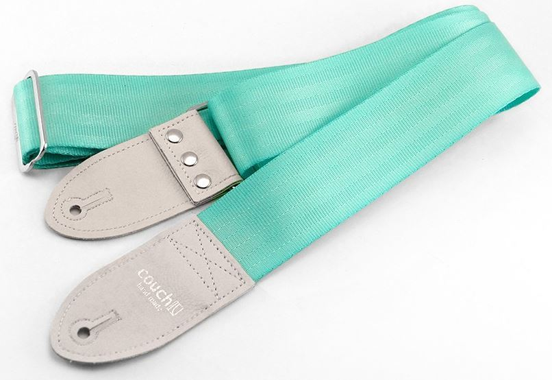 Couch THE RECYCLED MINT SEATBELT GUITAR STRAP
