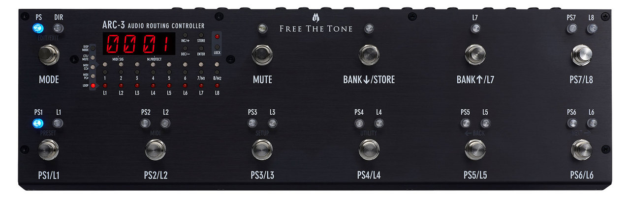 Free The Tone ARC-3 Audio Routing Controller Black [Yokohama]