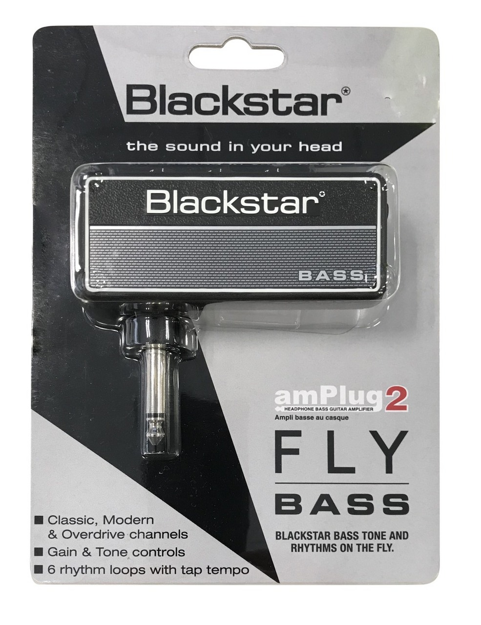 黑星Amplug [对电贝司耳机放大器2个飞低音AP2-FLY-B