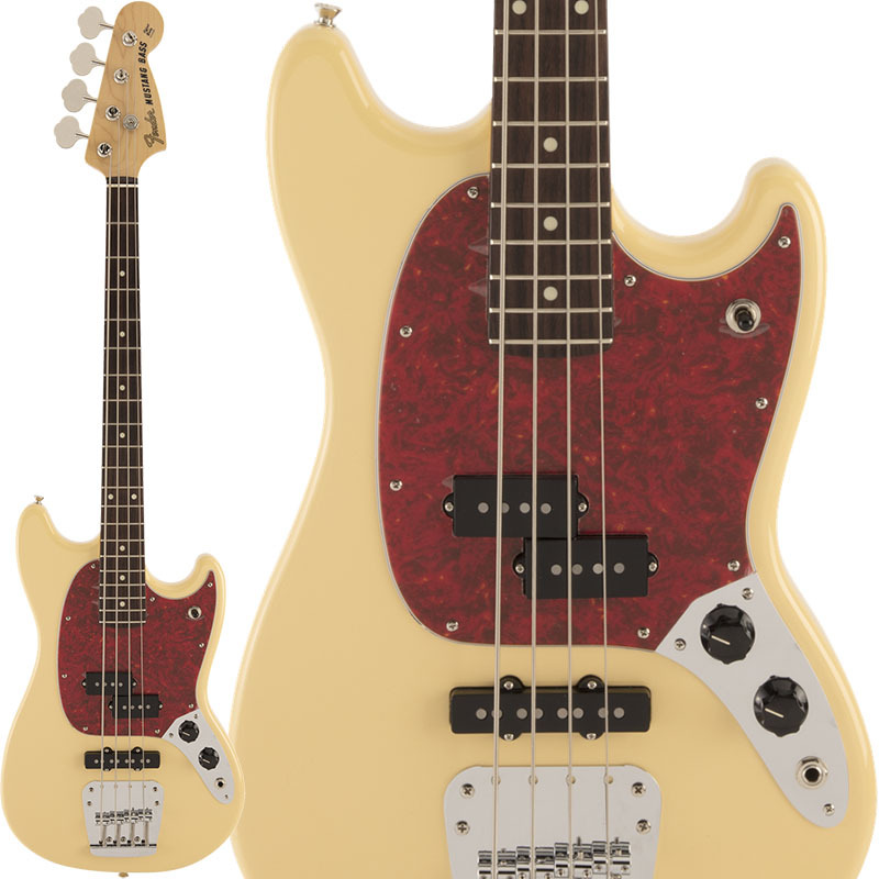 Fender Made in Japan Made in Japan Hybrid Mustang Bass (Vintage White)