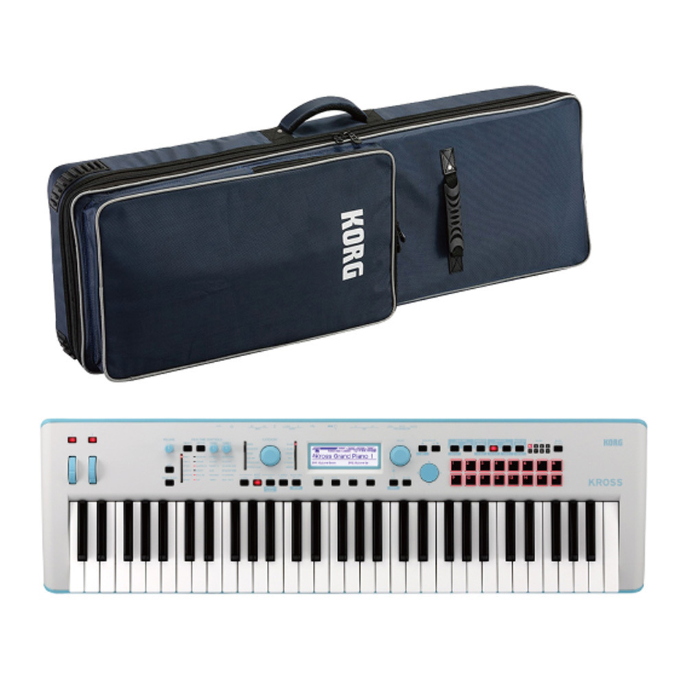KORG KROSS Special [box rags Sale of one limited] Edition Gray-Blue [with genuine case!]
