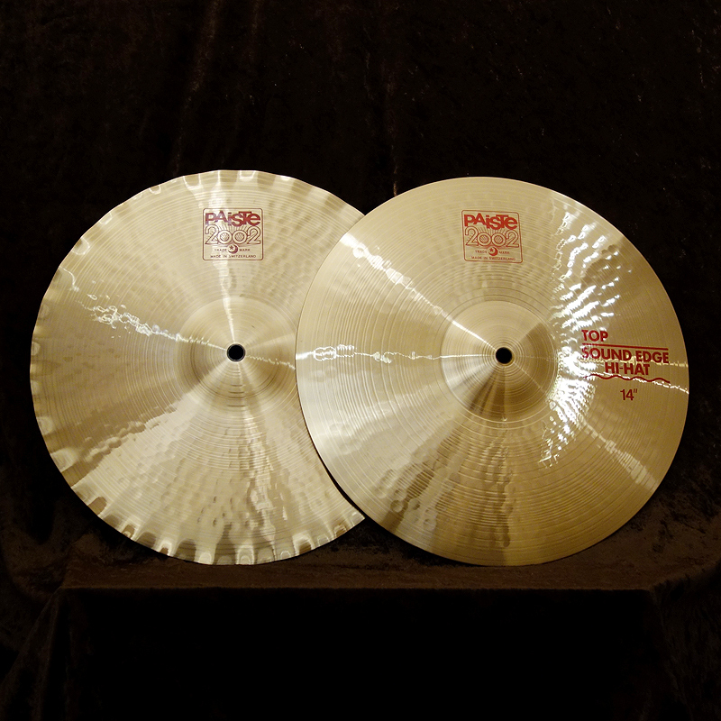"PAiSTe 2002 Sound Edge Hi-Hat 14 ""- once the balance sheet in the KEY year great bargain! All stores being held until 2/28!]"