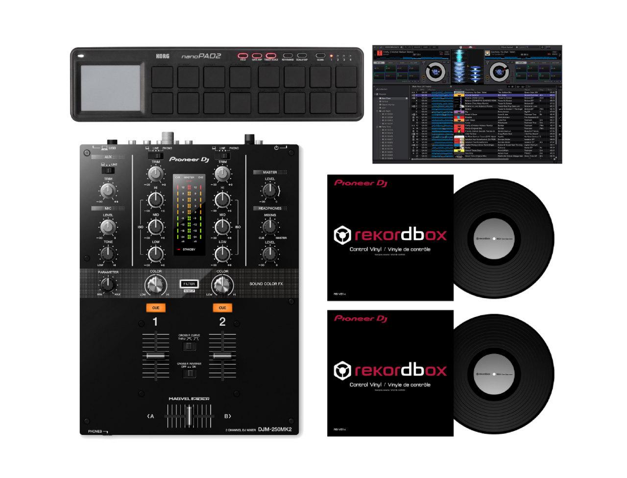 先锋DJ DJM-250MK2 + nanoPAD2(rekordbox的DJ与映射)+控制乙烯