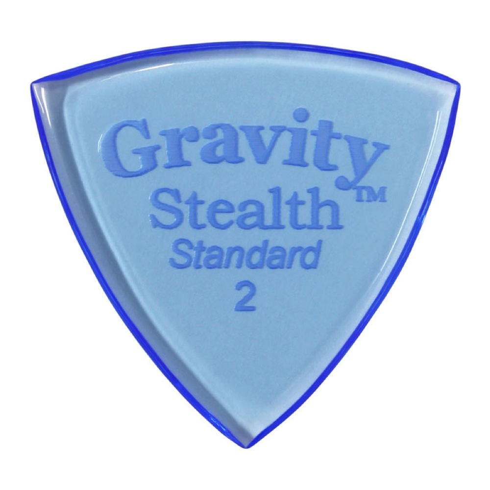 Gravity Guitar Picks Stealth -Standard- GSSS2P 2.0mm Blue ギターピック