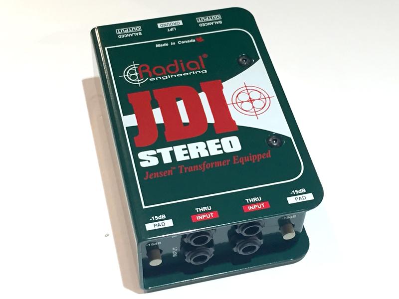 Radial JDI Stereo «stereo passive DI box»