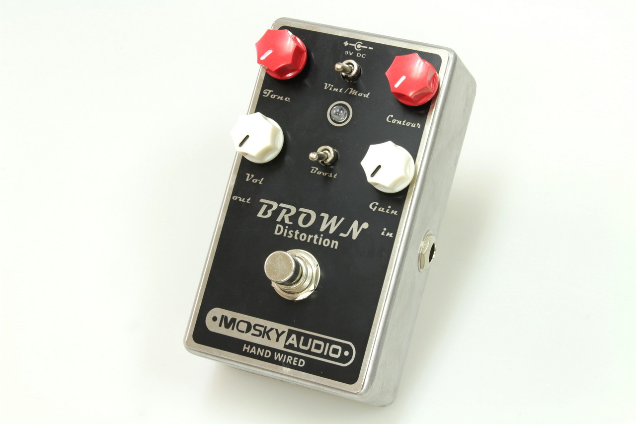 mosky Audio HANDMADE Pedal BROWN DISTORTION
