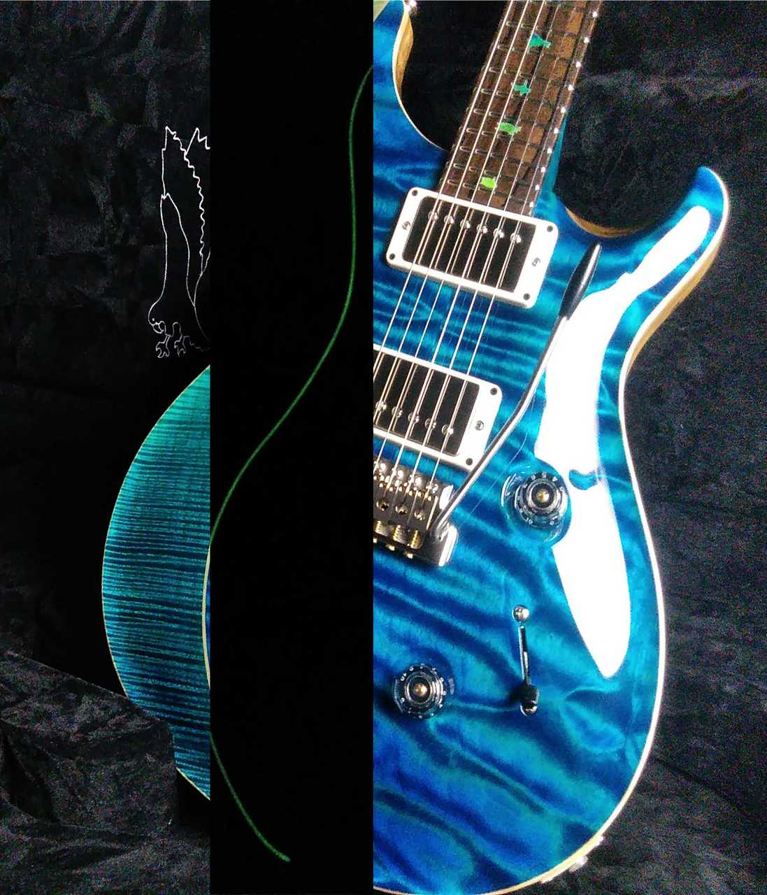 Paul Reed Smith(PRS) Private Stock #7659 Custom24 3-piece Top Aquamarine&Blue Fade,Luminlay Purfling