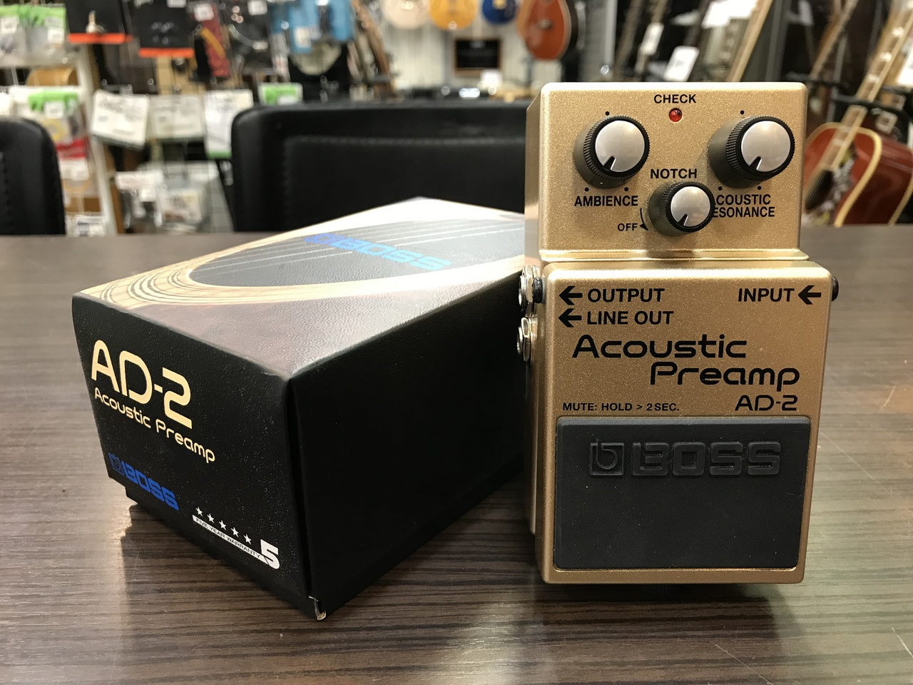 BOSS AD-2 Acoustic Preamp [used beauty goods] [former box-Tosetsuzuke] [pre-amplifier for acoustic guitar]