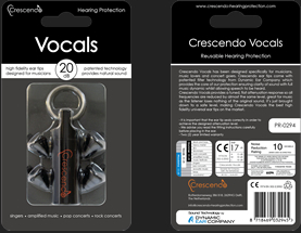 CRESCENDO VOCALS [vocalist for ear plugs (ear plugs)]
