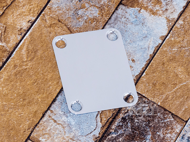 the AUTHENTIC KEY'STONE Vintage Replica Steel Neck Plate [our original neck plate!]