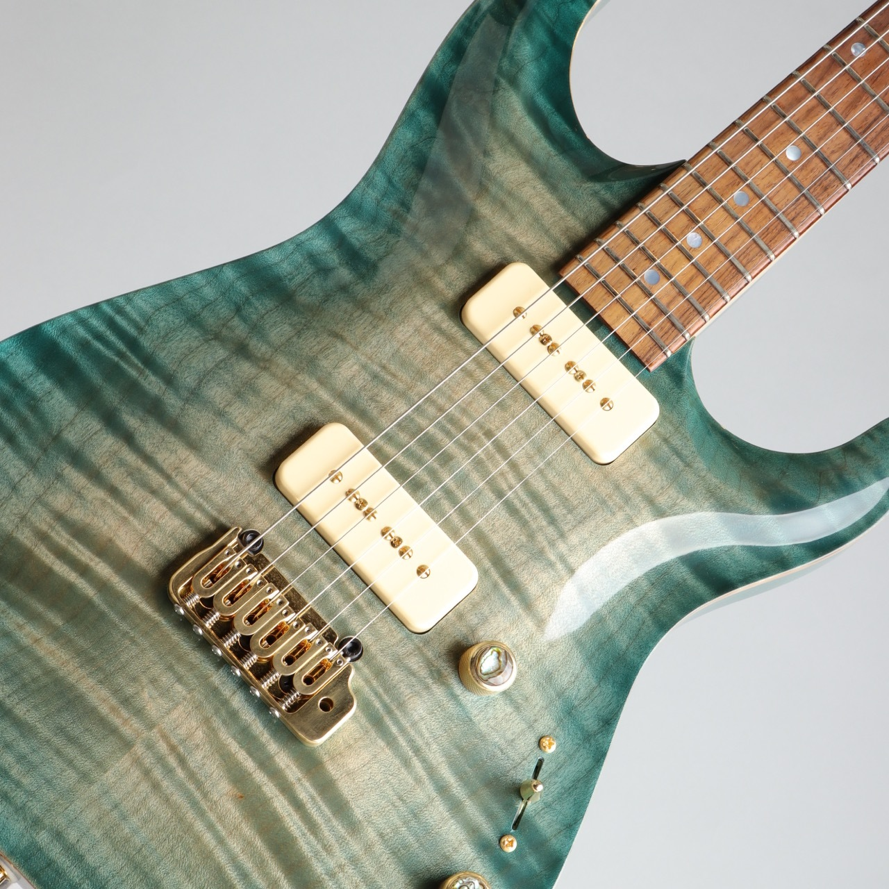 Pensa Custom Guitars MK-1 P-90 Style Aqua Blue Burst 2015