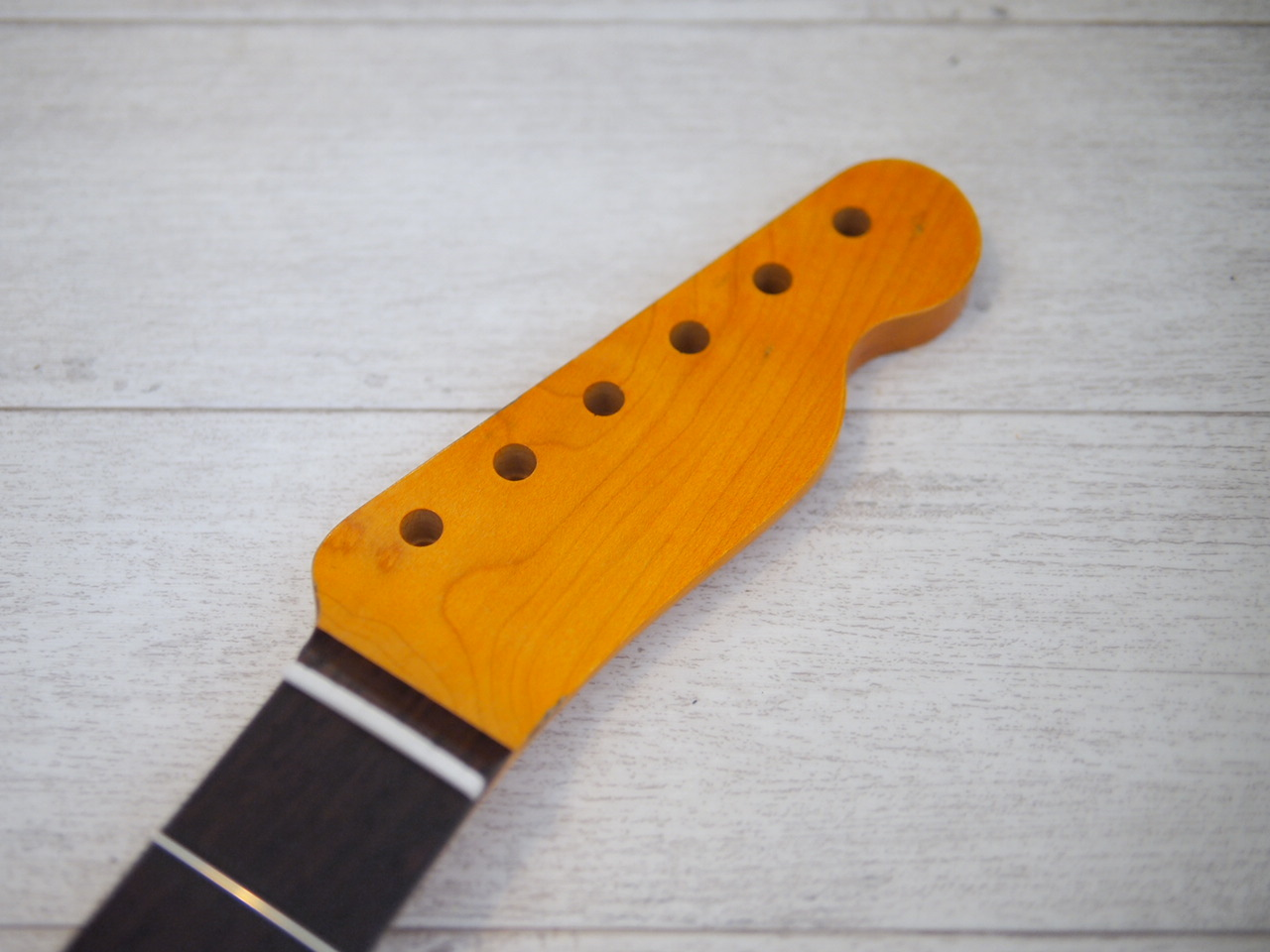 ALLPARTS Telecaster Neck - Maple/Indian Rosewood - 21F/Slab - Vintage Amber - Relic