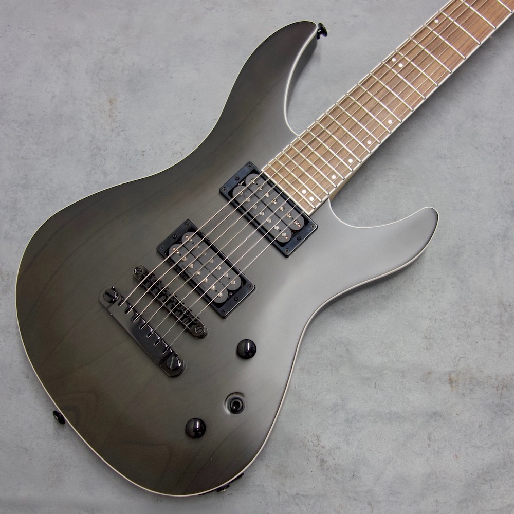 FUJIGEN (FGN) JMY7-ASH-G TBF (Transparent Black Flat) [J-Standard MYTHIC ash body 7-string model]