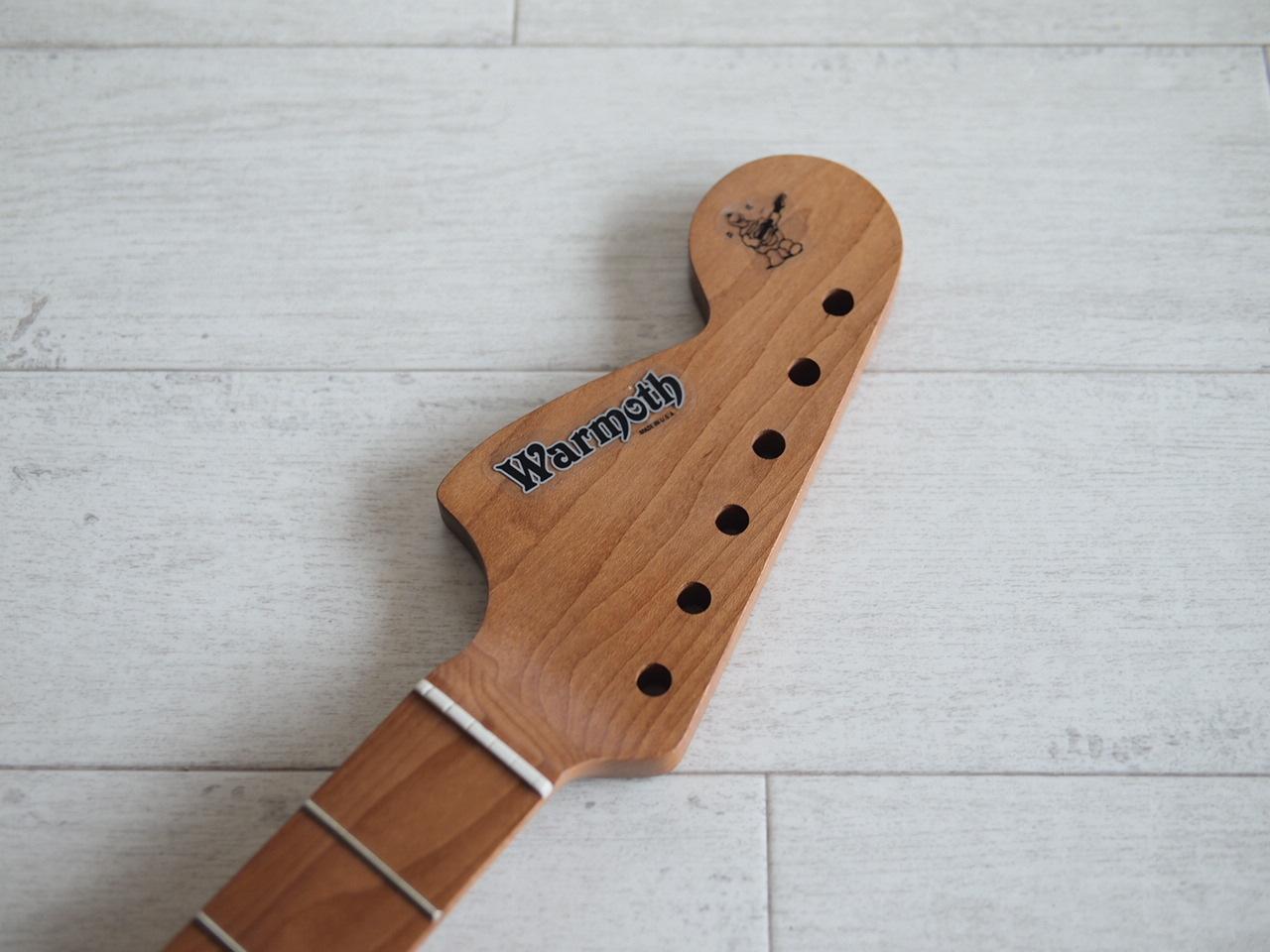 "WARMOTH CBS Stratocaster Neck ""Reverse Large"" - Roasted Maple/Roasted Maple"