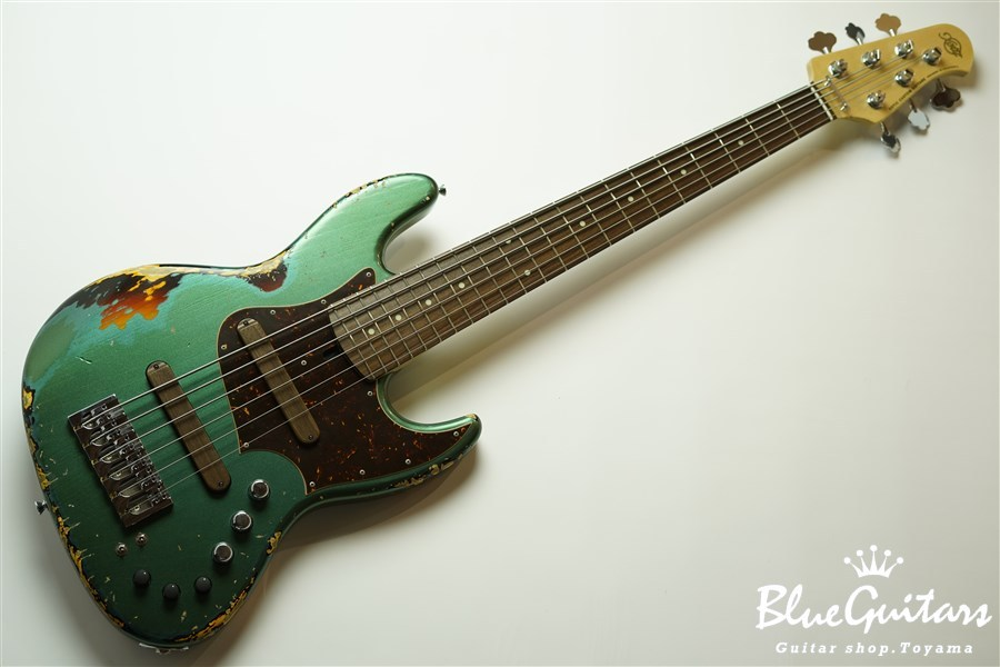 Xotic XJ-1T 6st Vintage Sherwood Green over 3-Tone Sunburst #1875 Heavy Aged/Ash/R
