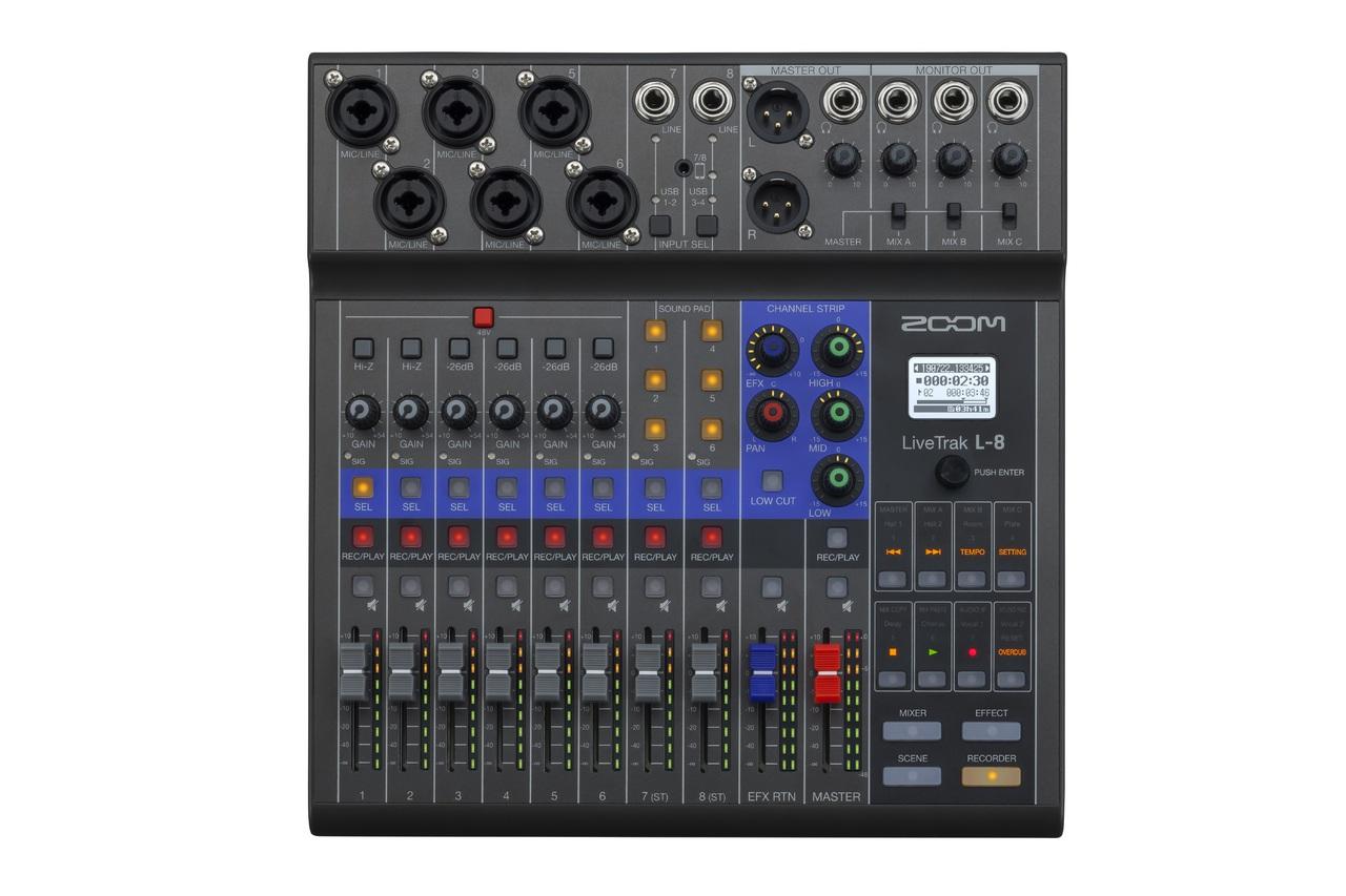 ZOOM LIVETRACK L-8 8-Track Live Mixer / Recorder 【未開封品 即納できます!】