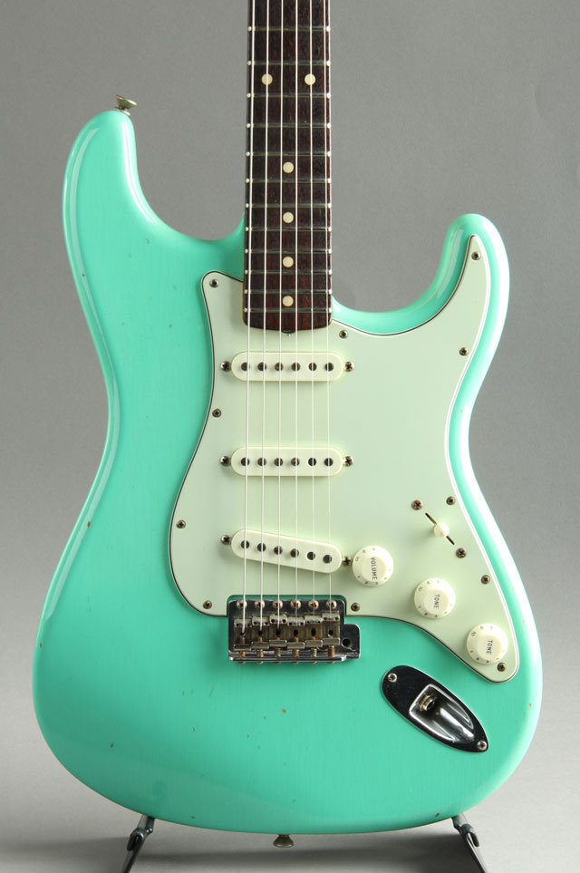 Fender Custom Shop 1961 Stratocaster Journeyman Relic Faded Sea Form Green 2016