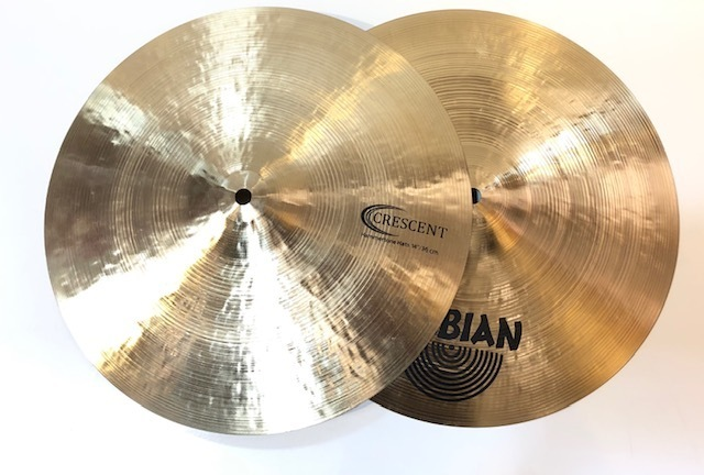 "SABIAN Crescent Jeff Hamilton 14 ""Hammertone Hi-Hats [1 limited edition Specials !!!]"