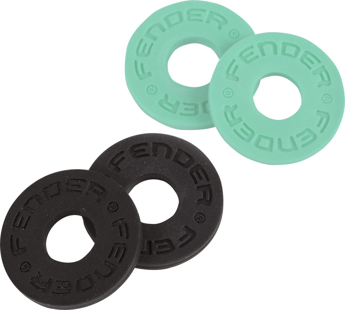 Fender Strap Blocks 4-Pack Black  and Surf Green 【WEBSHOP】