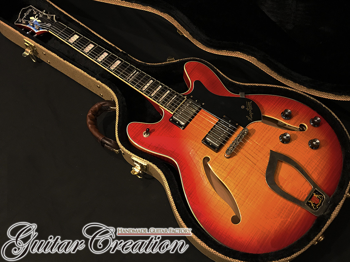 Hagstrom Viking Deluxe Semi-Hollow '09年製【Amber Sunburst】~Legend British Sound~ 3.4kg