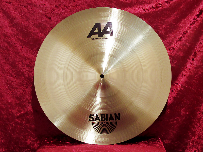 "SABIAN AA China 18 ""[terrible depreciation to drum City held !! ~ 12/31]"