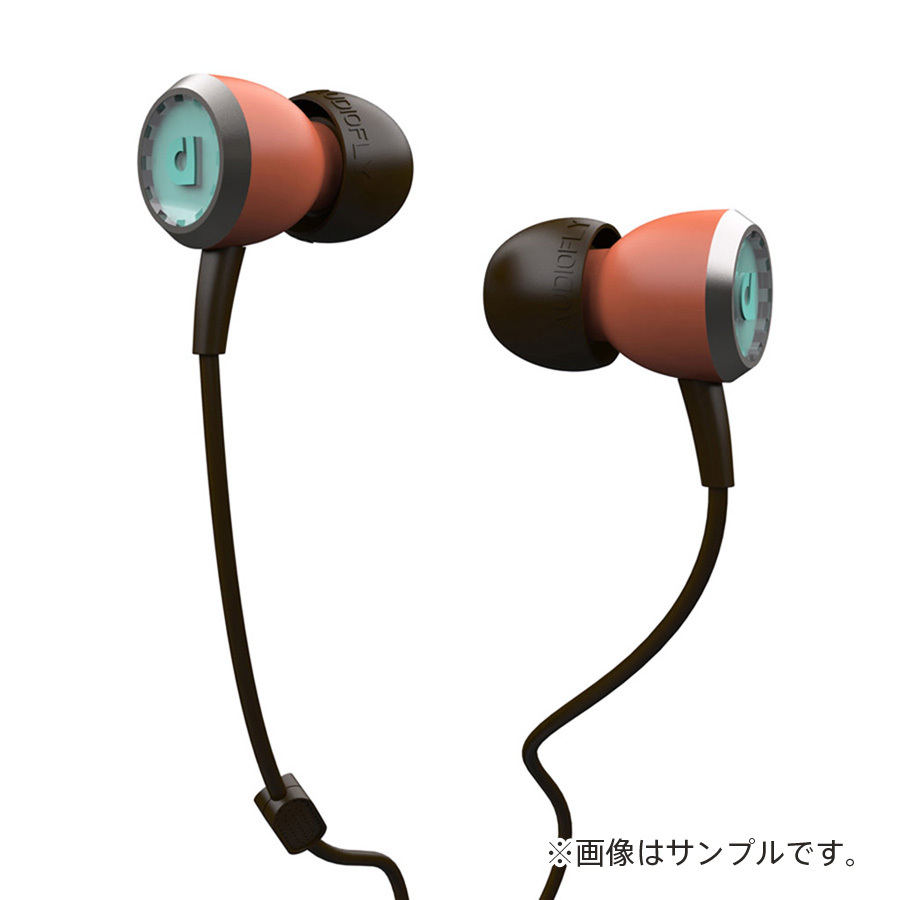 AUDIOFLY AF33M In-Ear Headphones with MIC / Coral(ピンク)