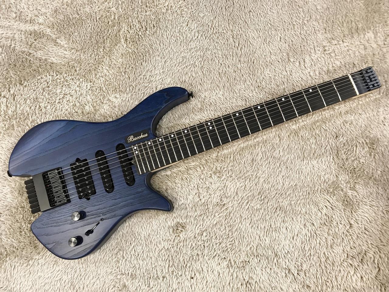 Bacchus G7-HL/ASH/E BLU/OIL 【アウトレット特価】【限定モデル】【日本製】【7弦ギター】