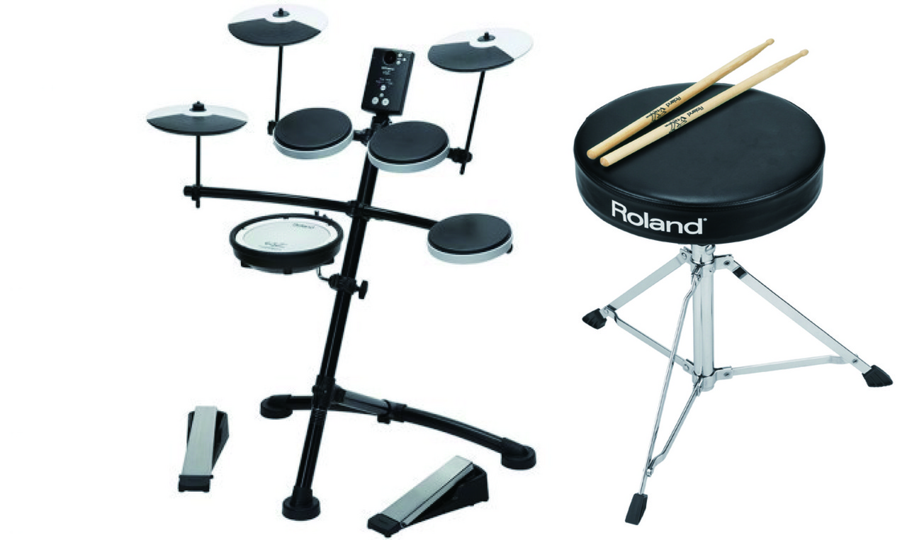 "Roland V-Drums TD-1KV: storefront display in: ""! Genuine chair stick (DAP-2) presents"" [same day shipping & takeaway OK]"