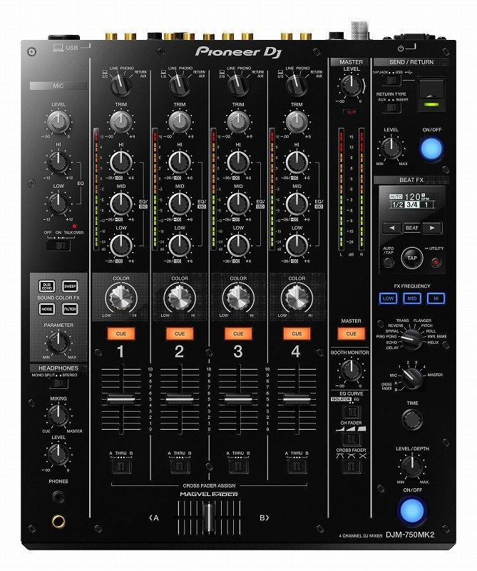 [4CH mixer equipped with a high-performance USB sound card] Pioneer Dj DJM-750MK2 []