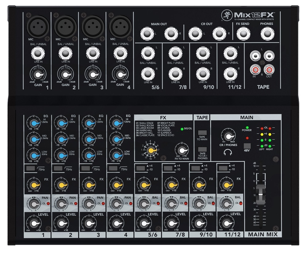 Mackie MIX12FX 12 Channel effects built-in compact