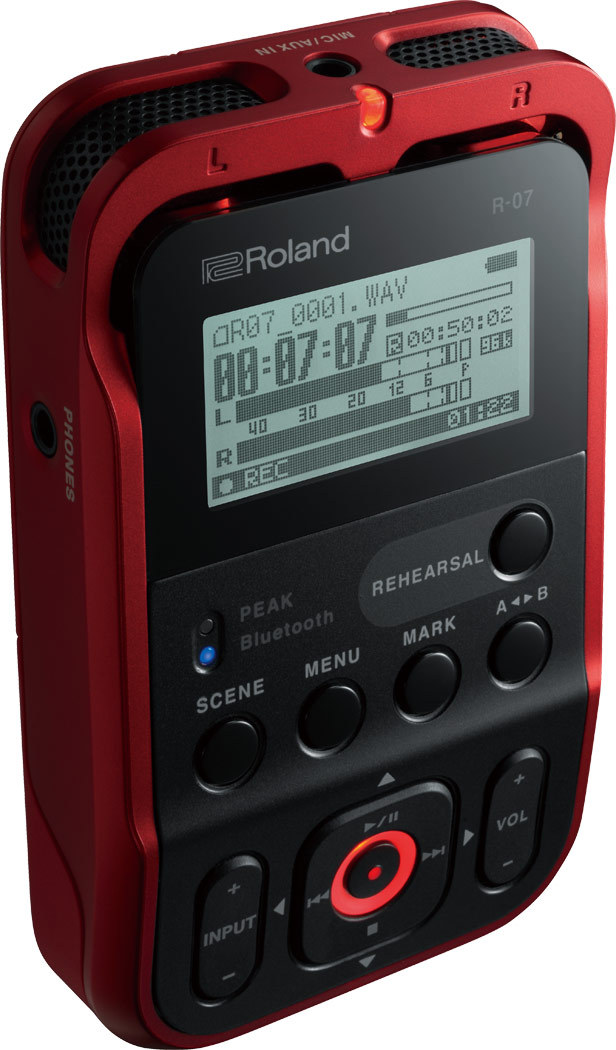 Roland R-07 RD (Red) ★ choose all three colors ★ [!]