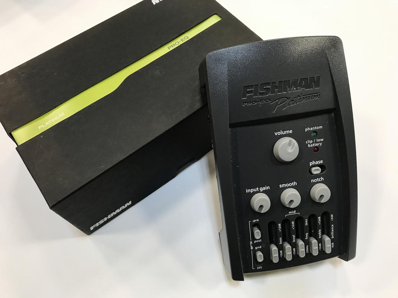 FISHMAN PRO-EQ Platinum [used beauty goods] [Motohakozuke] [acoustic guitar preamp]