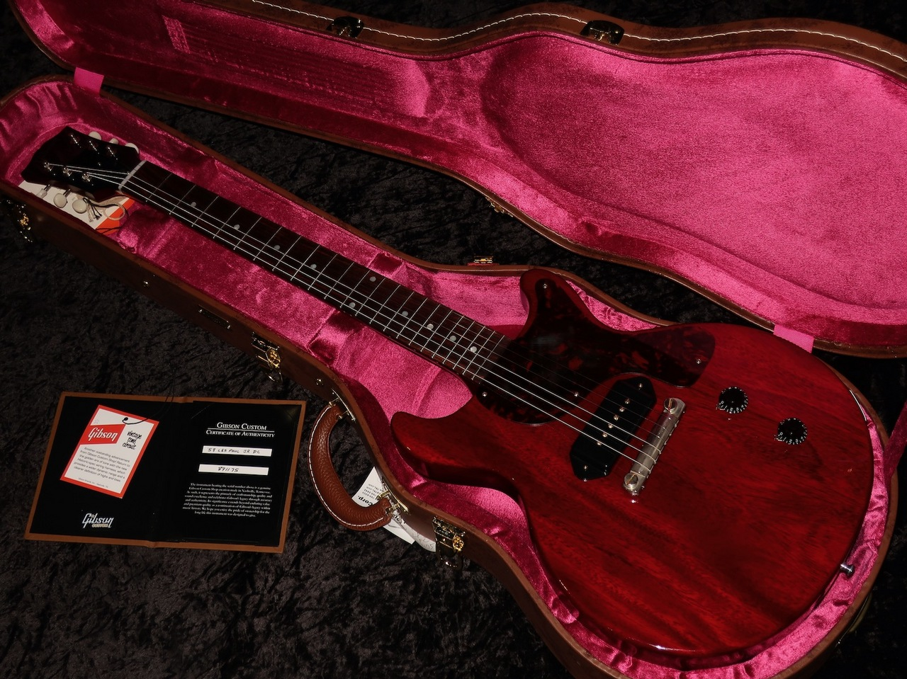 Gibson Custom Shop Historic Collection 1958 Les Paul Junior Double Cut Reissue VOS : Cherry Red