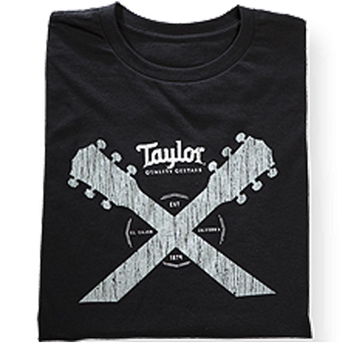 Taylor Double Neck T-shirt -M (Black)