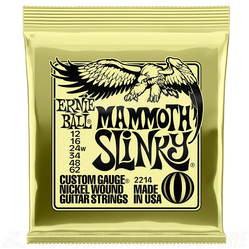 ERNIE BALL #2214 MAMMOTH SLINKY NICKEL WOUND ELECTRIC GUITAR STRINGS-12-62【06月23日発売予定・ご予約受付中】
